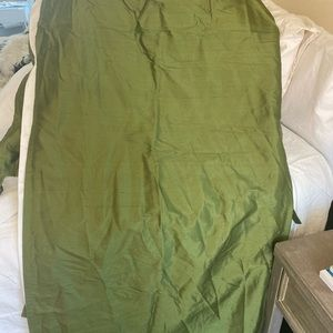 Bundle: 2 Pottery barn green Dupioni silk panels